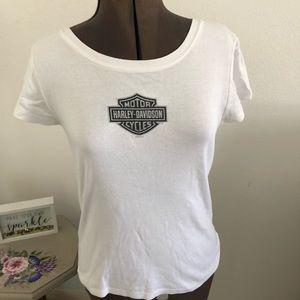 Tops - Nice white basic Harley Davidson T-shirt